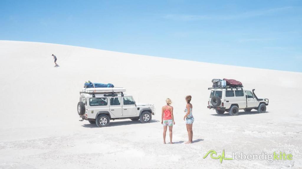 Sandboarden Dünen Lancelin Australien