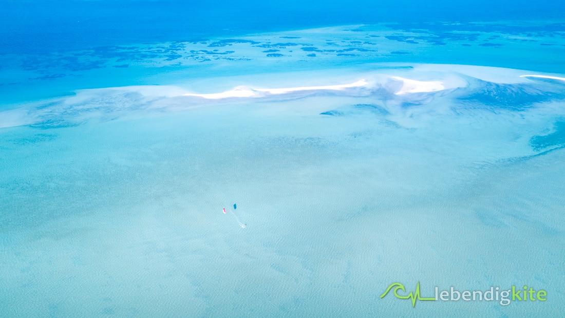 Flachwasser Kitespots Australien Lagune
