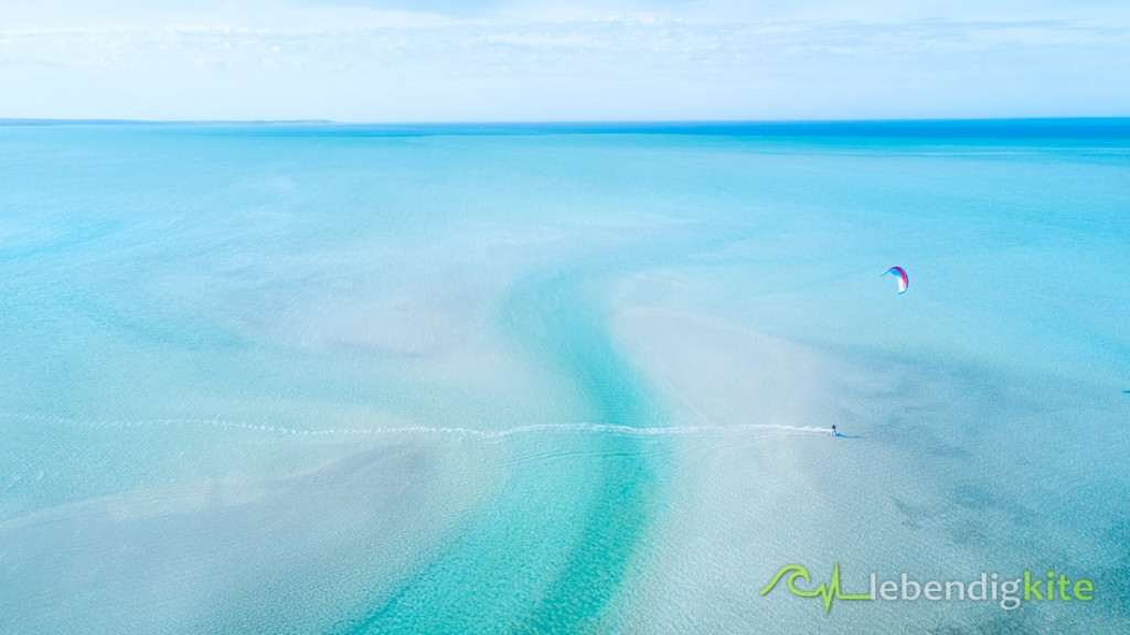 Lagunen Kitesurfen Australien
