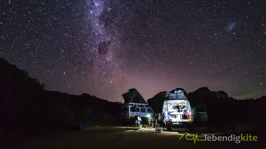 Camping Australien Nachthimmel Milchstrasse