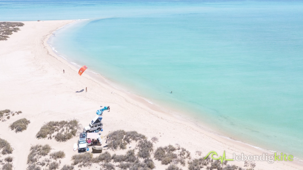 Australien Camping direkt am Strand die besten Kitespots