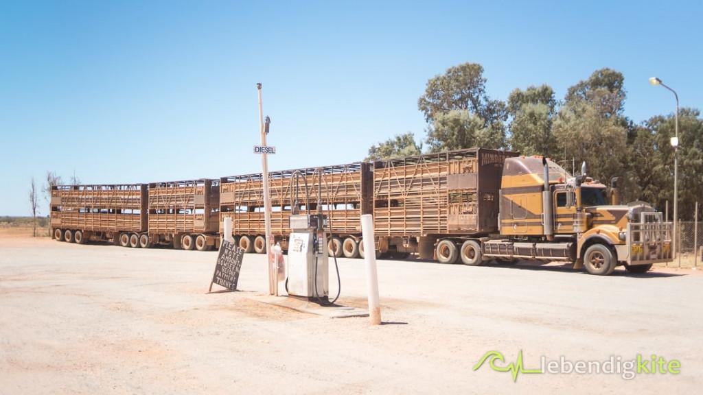 Outback Roadtrain Australien